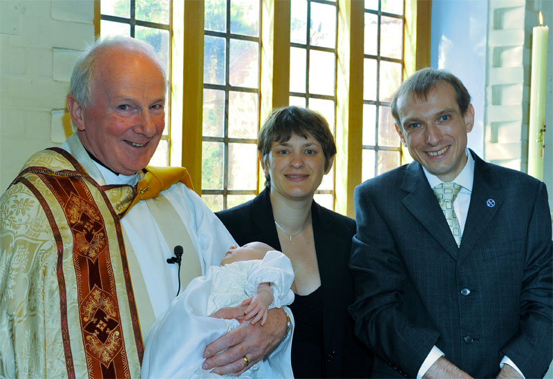Peter with Lydia at her Baptism